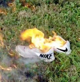 Haters Mocked For Wrecking Their Own Nike Stuff To Protest