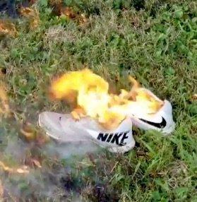 Nike burns