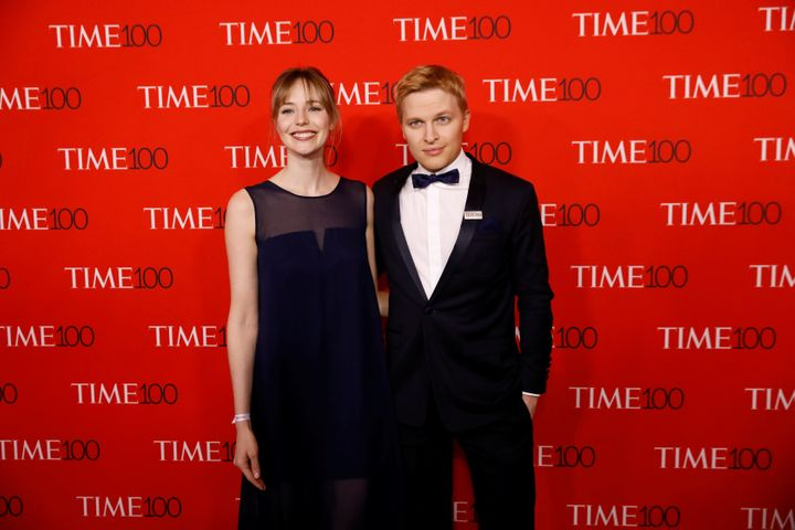 Emily Nestor and Ronan Farrow at the TIME 100 Gala in April.