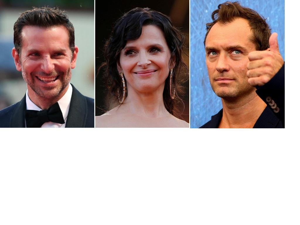 Actors Bradley Cooper (left), Juliette Binoche (center) and Jude Law (right) were among the signatories...