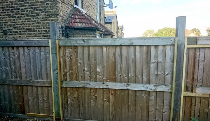 Antonia's fence is standing strong thanks to her neighbours.
