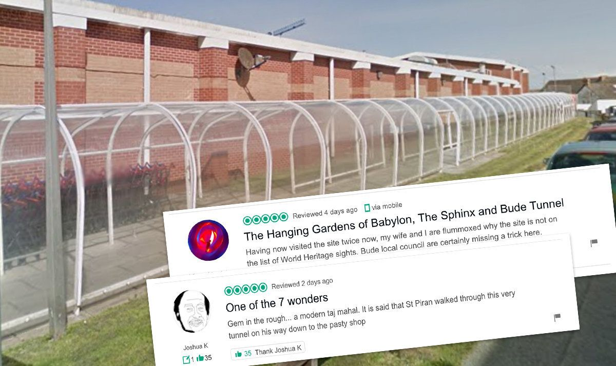 Tunnel Becomes Town's Top-Rated Attraction Thanks To Tongue-In-Cheek TripAdvisor
