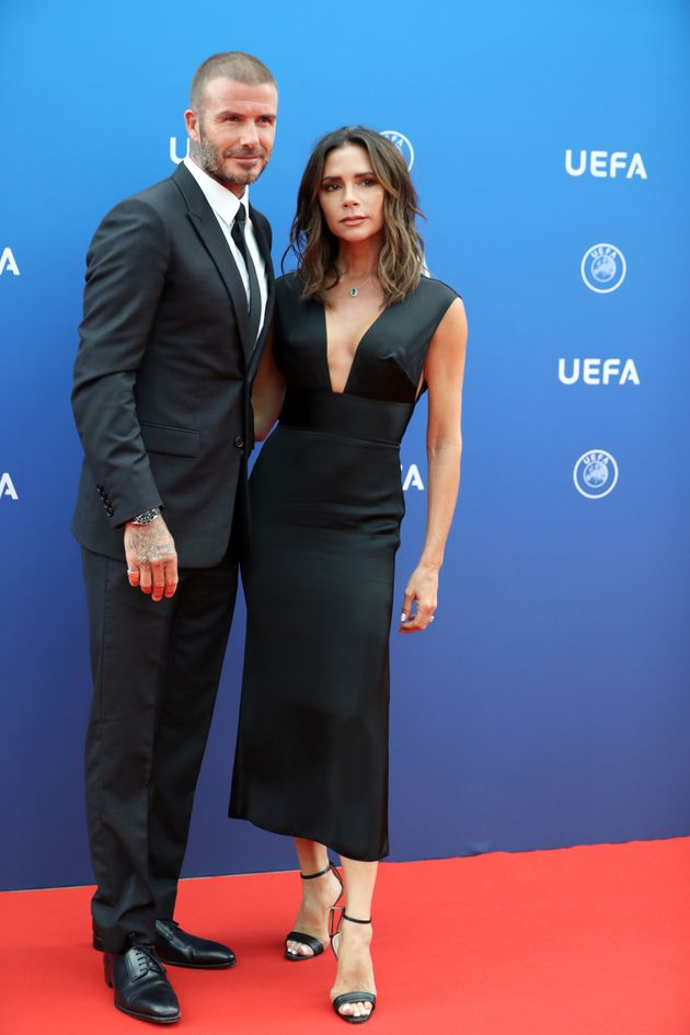 David and Victoria Beckham pictured together last