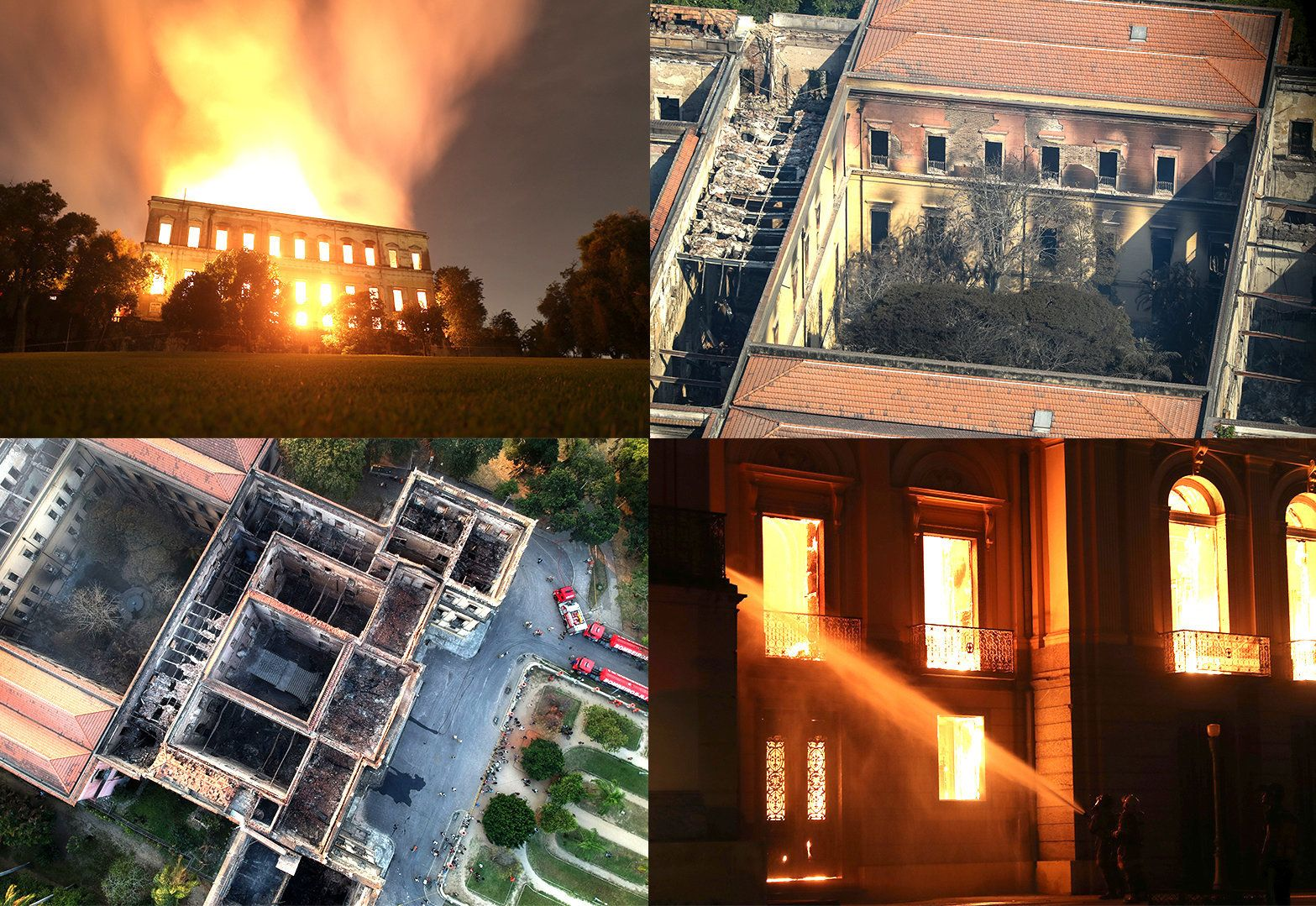 Haunting Aerial Photos Show Devastation Caused By Brazil National Museum