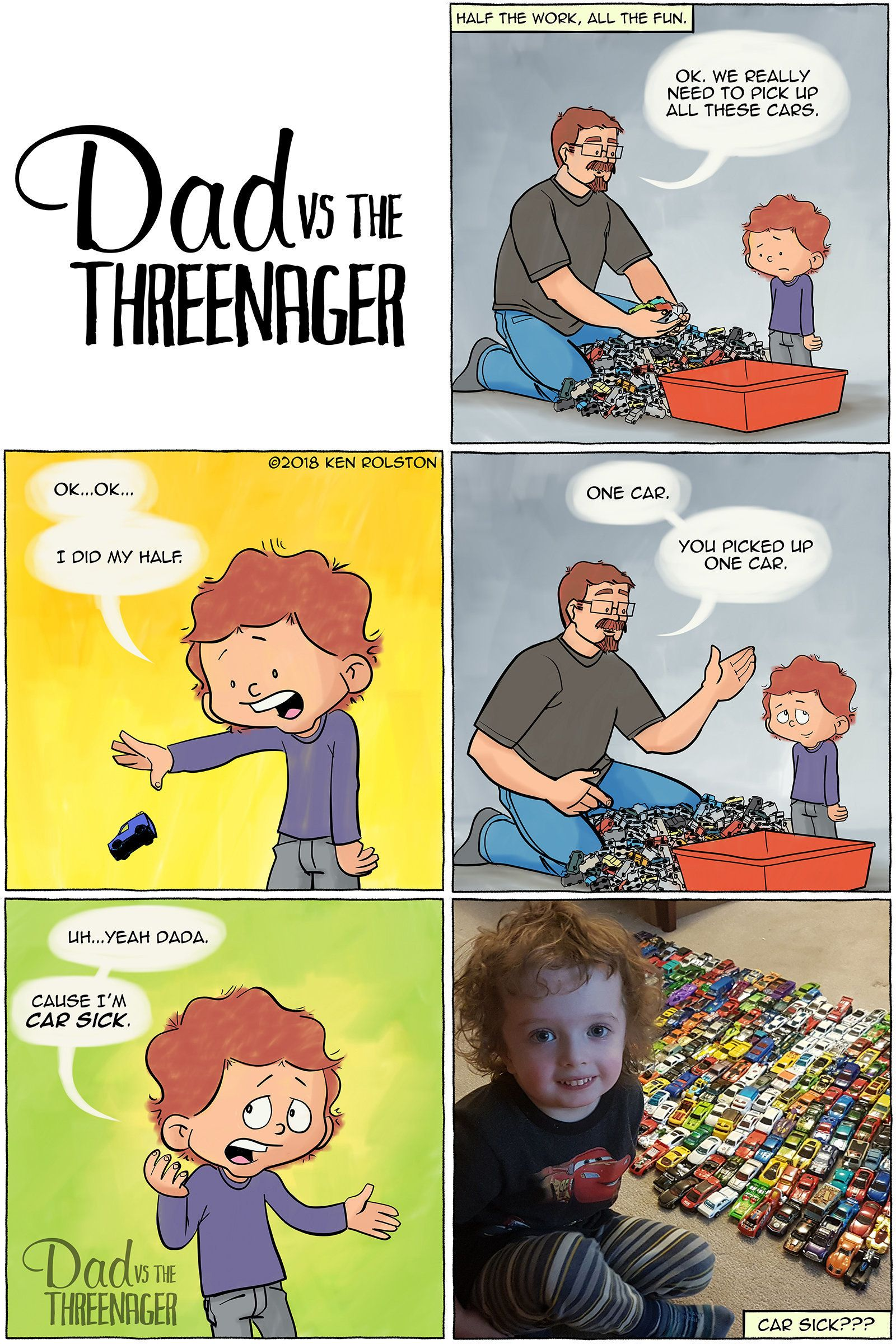 "Ken Rolston is the dad behind the web comic ""Dad vs. the Threenager,"" which is based on funny moments from his son."