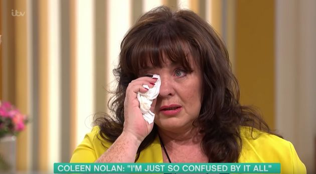 A tearful Coleen discusses her difficult