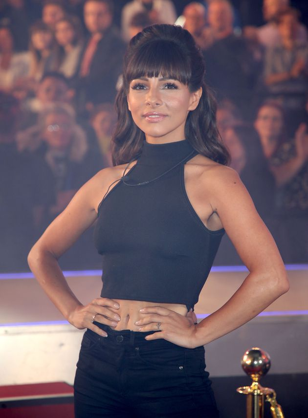Roxanne Pallett entering the 'CBB' house last