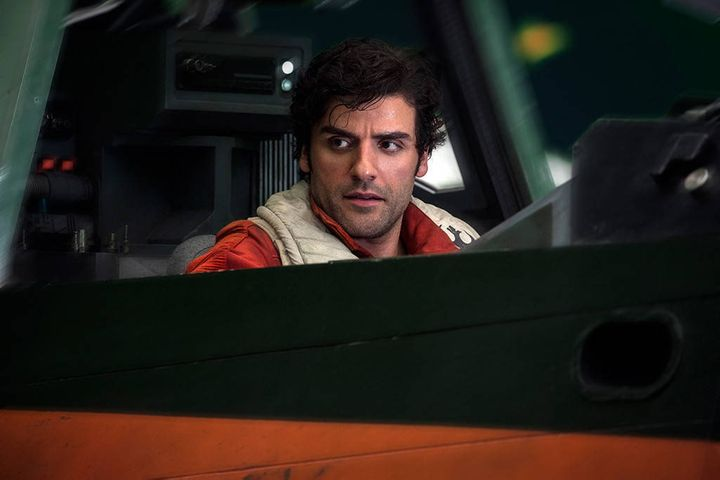 "Oscar Isaac in ""Star Wars: The Last Jedi."""