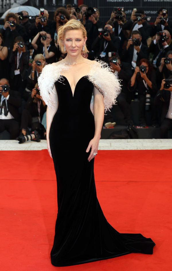 The two-time Oscar-winning actress wears Armani Privé at the