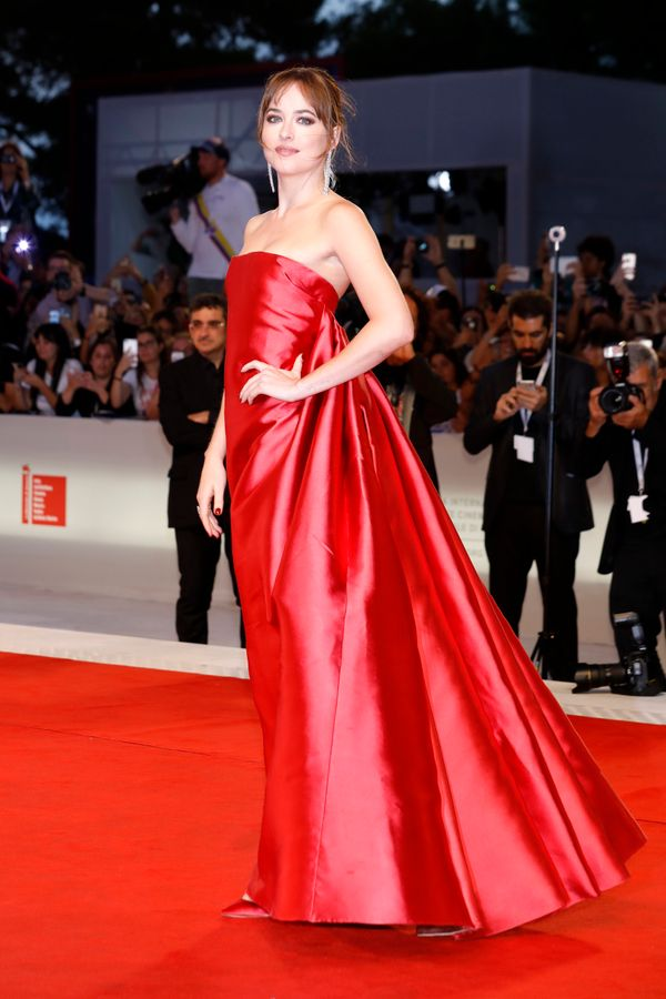 The actress poses in Christian Dior couture at the
