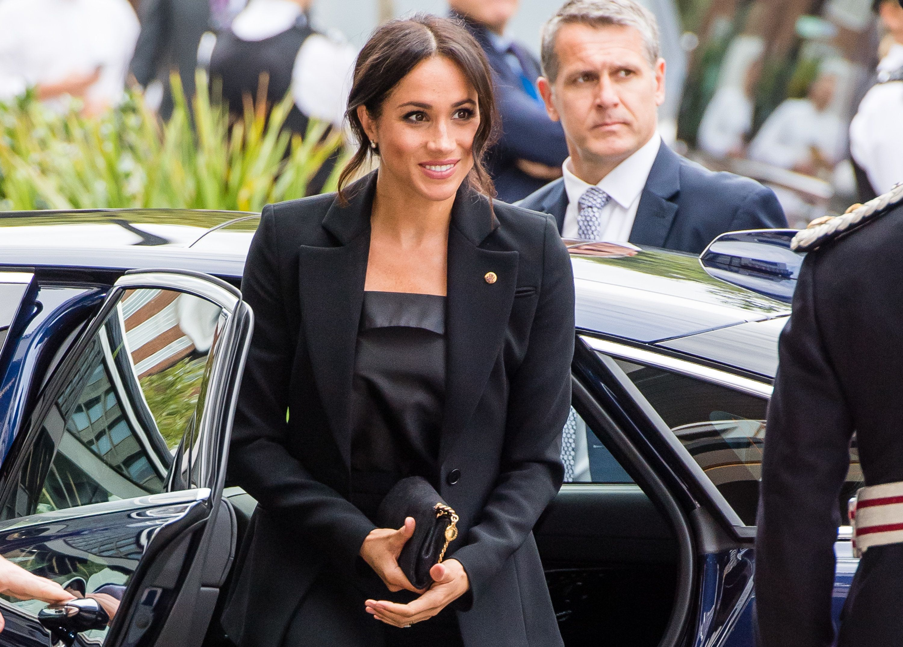 Meghan Markle Suits Up For A Night With Prince