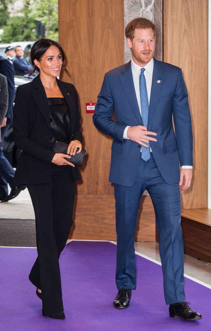 The Duke and Duchess of Sussex attend the WellChild Awards at the Royal Lancaster Hotel in London on Sept. 4.