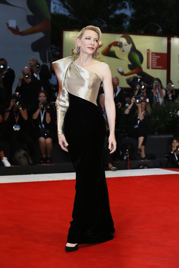 Blanchett in another Armani Privé gown on the red carpet for the