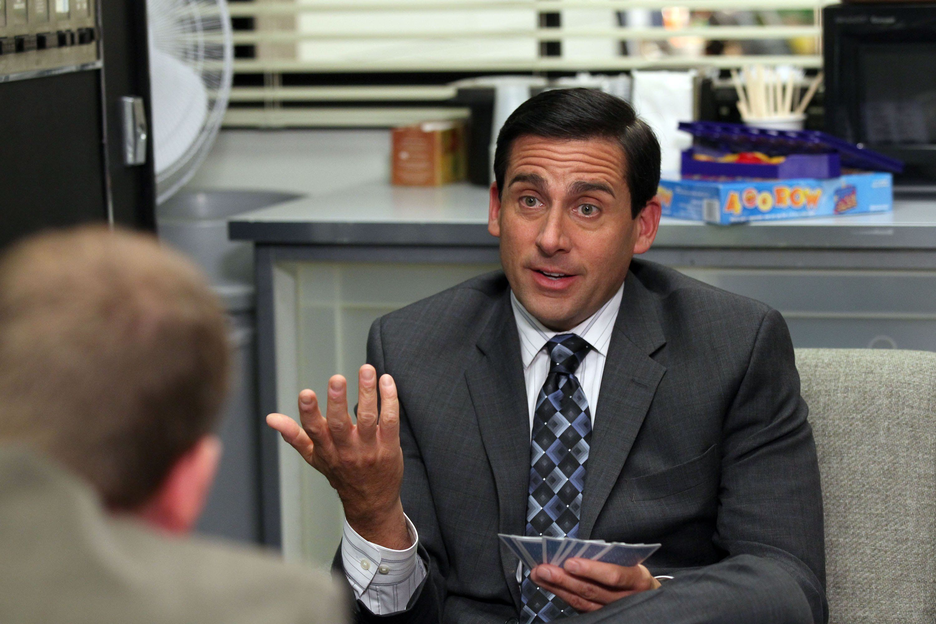 THE OFFICE -- 'Counseling' Episode 702 -- Pictured: Steve Carell as Michael Scott -- Photo by: Chris Haston/NBC/NBCU Photo Bank