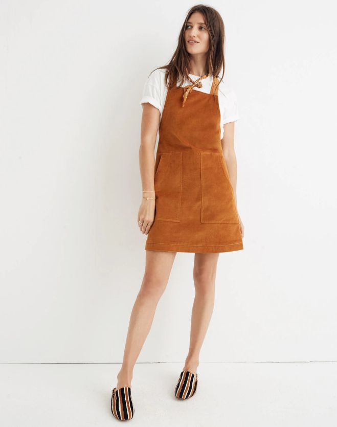 dde64d8bfe3 15 Picture-Perfect Pinafore Dresses You ll Want To Layer This Fall ...
