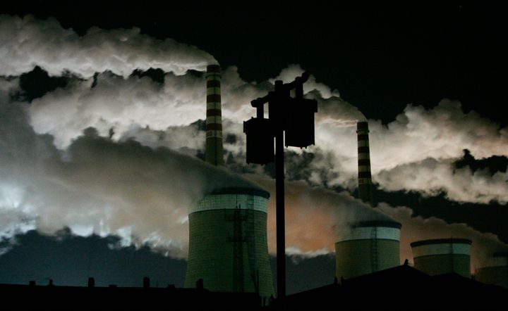 The Datong coal-fired power plantin Shanxi province, China. Carbon pricing would mean polluters would have to pay for t