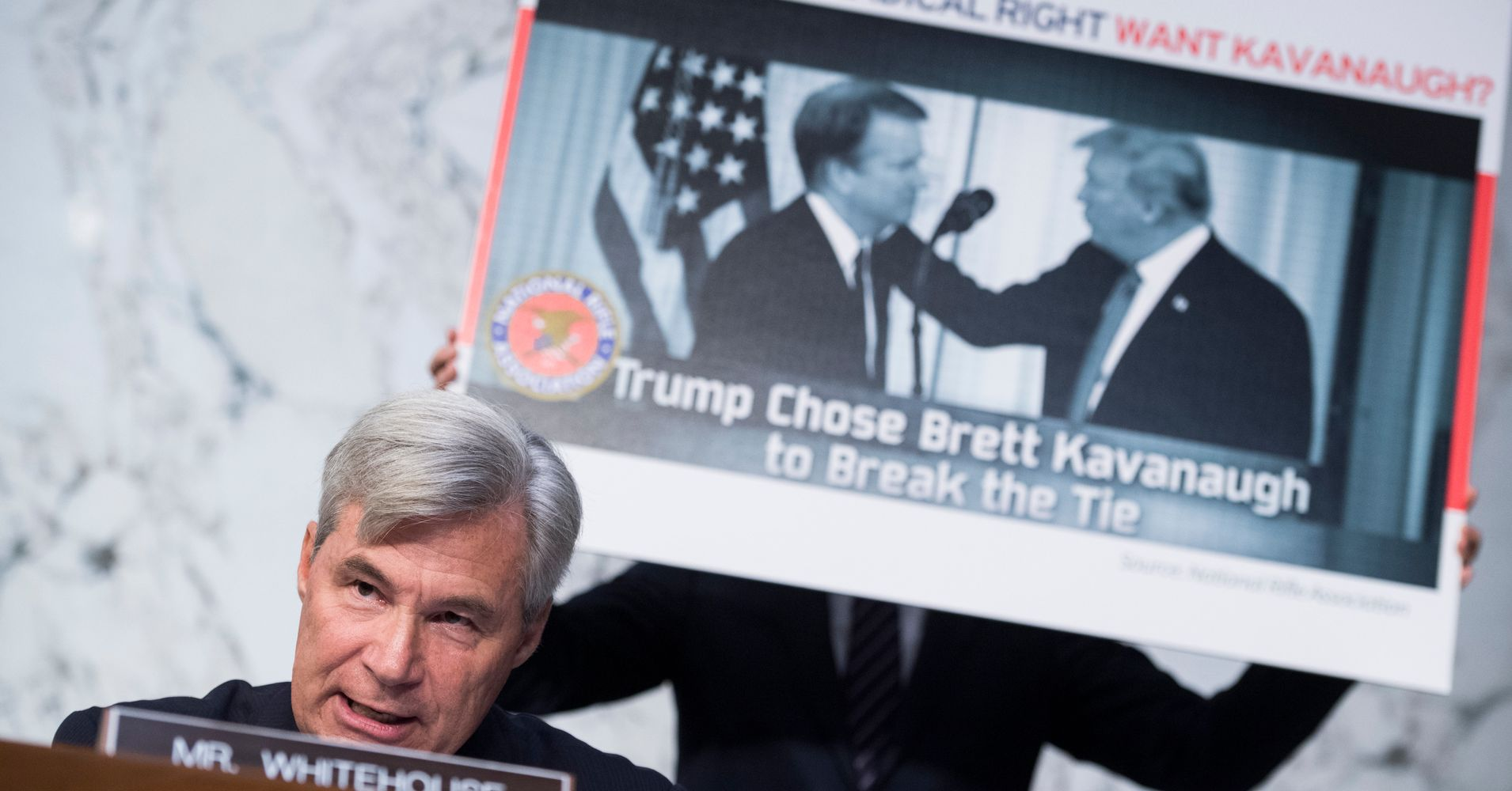 Image result for photos of brett kavanaugh sen whitehouse