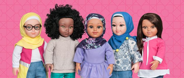 From the left, the five Salam Sisters dolls are Layla, Karima, Yasmina, Nura and