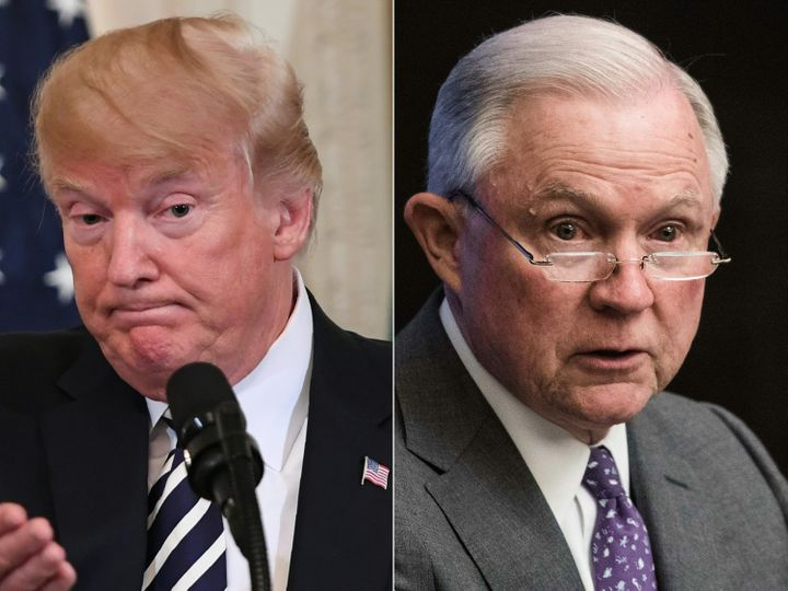 President Donald Trump has kept up a steady barrage of complaints against Attorney General Jeff Sessions.