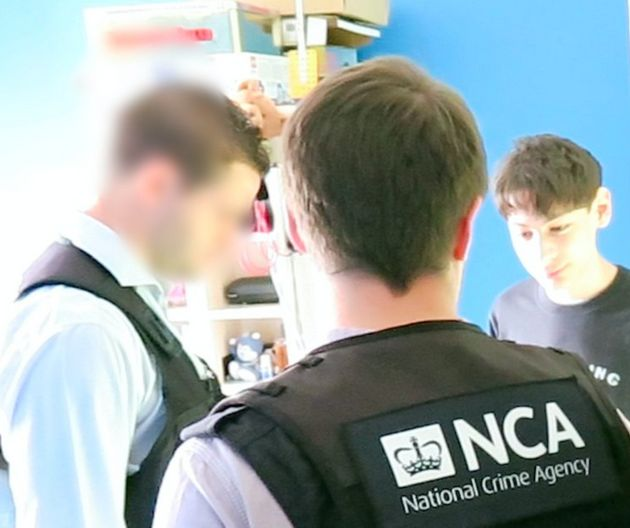 George Duke-Cohan, 19, is arrested by National Crime Agency staff
