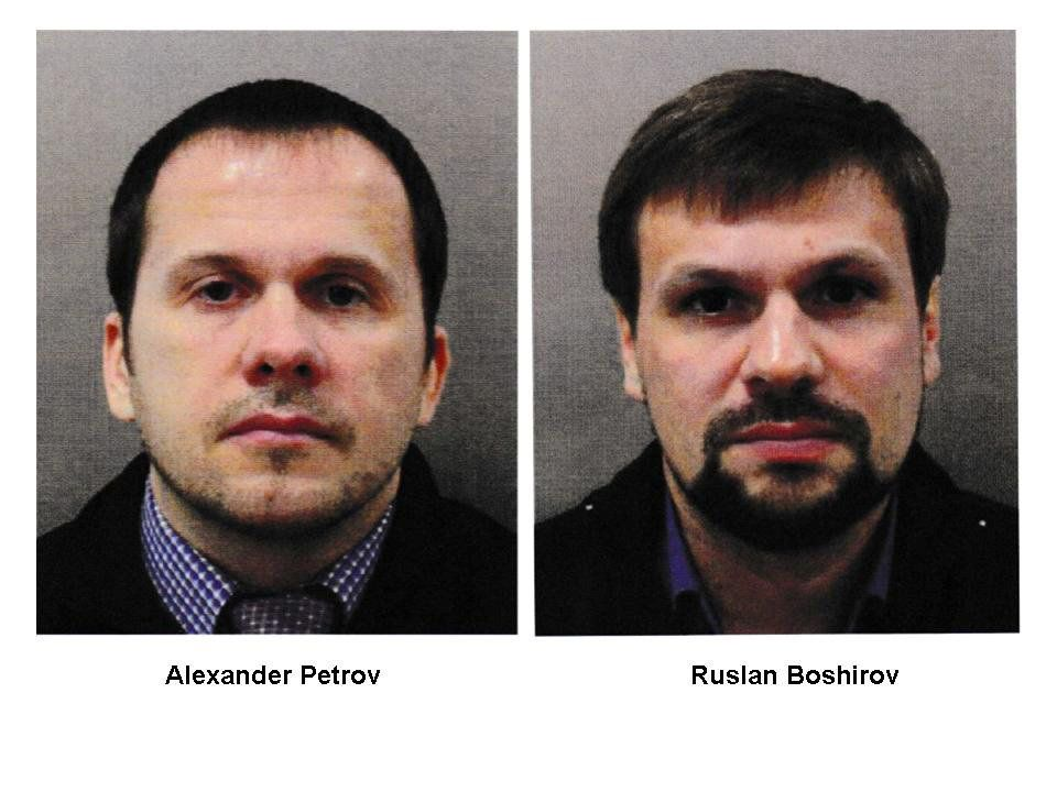Alexander Petrov and Ruslan Boshirov who are formally accused of attempting to murder former Russian intelligence officer Se