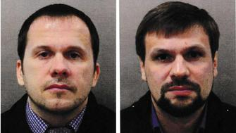 Alexander Petrov and Ruslan Boshirov, who were formally accused of attempting to murder former Russian intelligence officer Sergei Skripal and his daughter Yulia in Salisbury, are seen in an image handed out by the Metropolitan Police in London, Britain September 5, 2018. Metroplitan Police handout via REUTERS  FOR EDITORIAL USE ONLY. NOT FOR SALE FOR MARKETING OR ADVERTISING CAMPAIGNS THIS IMAGE HAS BEEN SUPPLIED BY A THIRD PARTY. IT IS DISTRIBUTED, EXACTLY AS RECEIVED BY REUTERS, AS A SERVICE TO CLIENTS