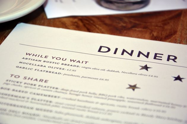 If the legislation is passed, all menus will have to feature the