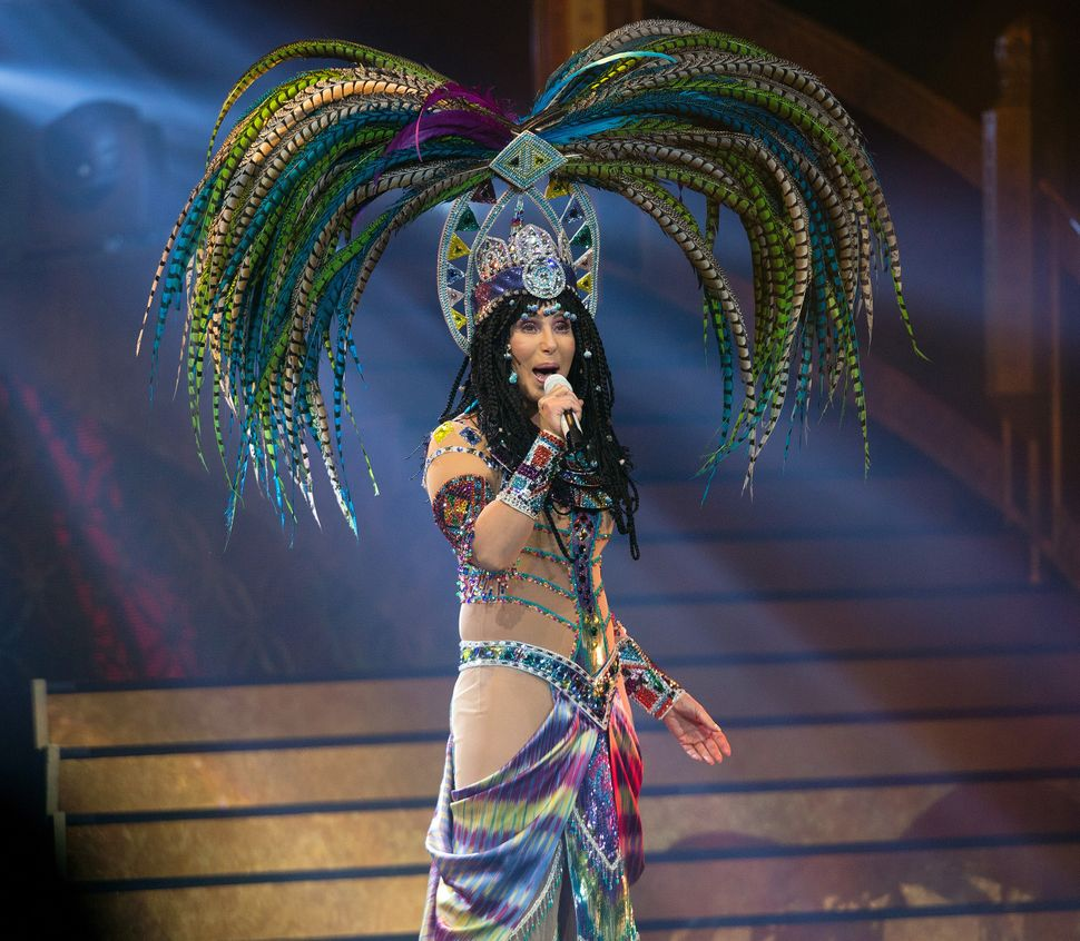 Cher on her Dressed to Kill tour in April 2014.