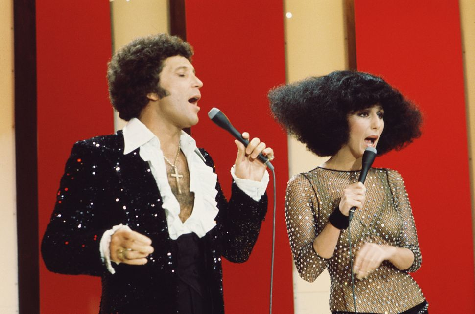 "Tom Jones and Cher on ""The Sonny & Cher Show"" in October 1976."