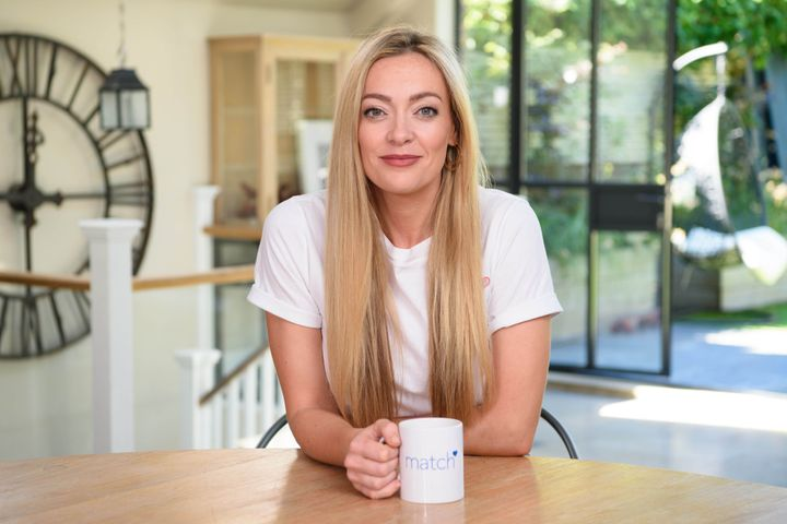 Cherry Healey at home.