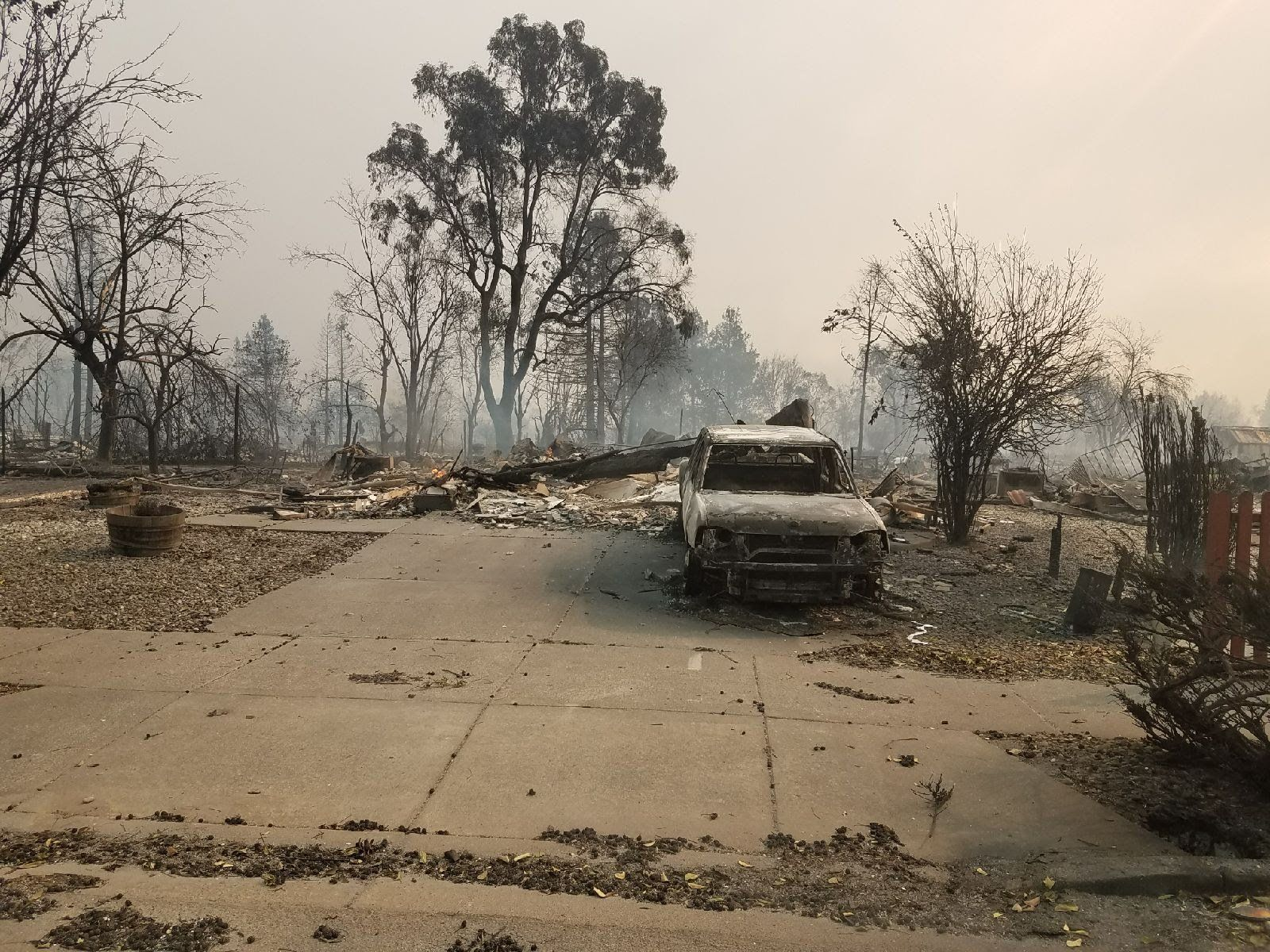 The Edneys' property after the fires -- Oct. 2017<i></i>