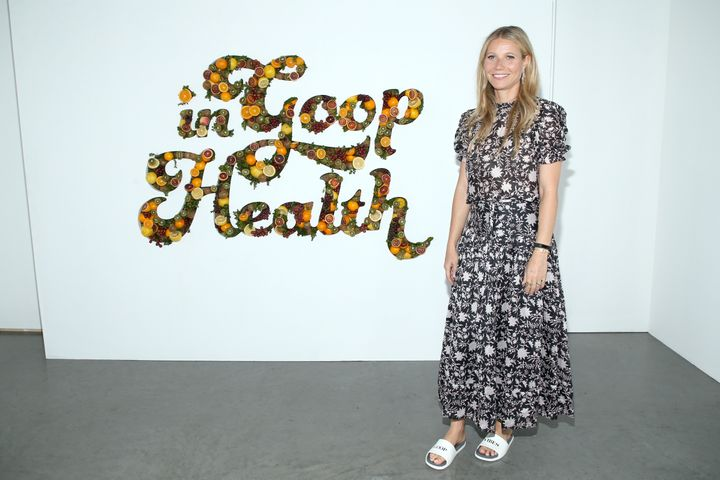 "Gwyneth Paltrow attends the ""In Goop Health"" summit on June 9 in California."