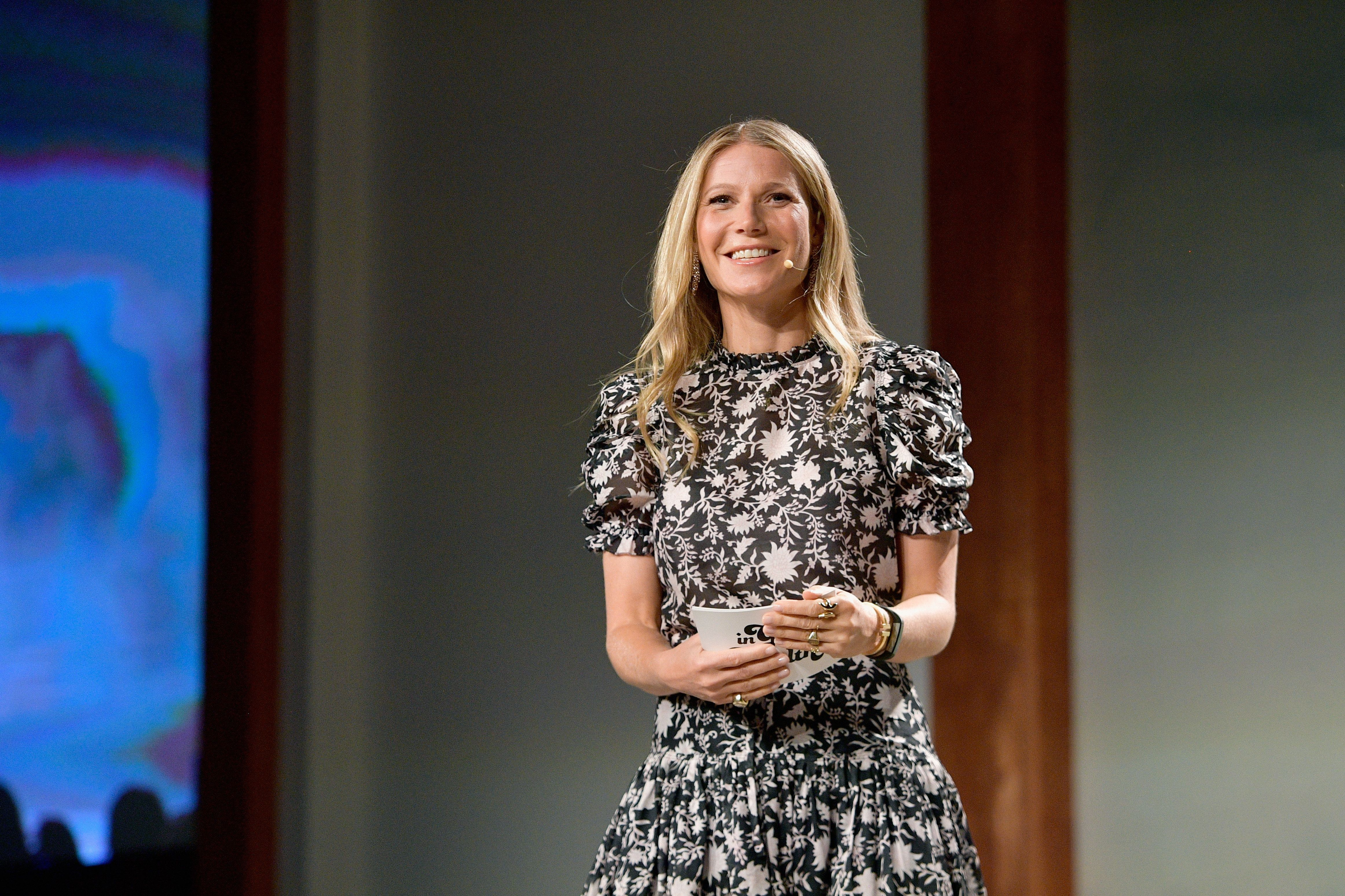 CULVER CITY, CA - JUNE 09:  Gwyneth Paltrow speaks onstage at the In goop Health Summit at 3Labs on June 9, 2018 in Culver City, California.  (Photo by Matt Winkelmeyer/Getty Images for goop)