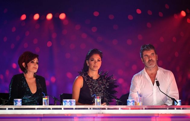 Sharon with her former co-stars Nicole Scherzinger and Simon Cowell