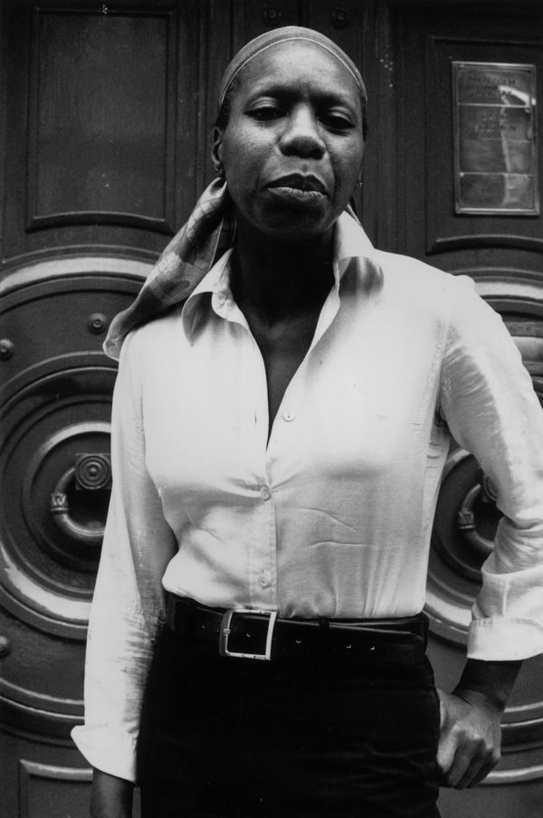 The jazz singer poses for a photo in 1978.