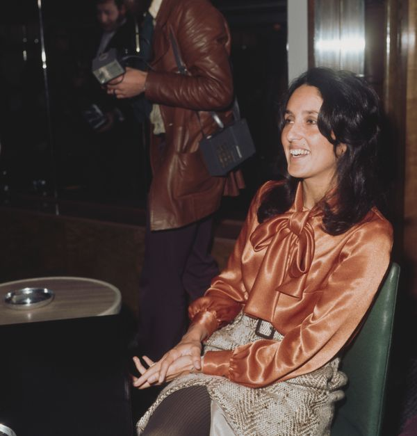 Baez poses for a photo in 1972.