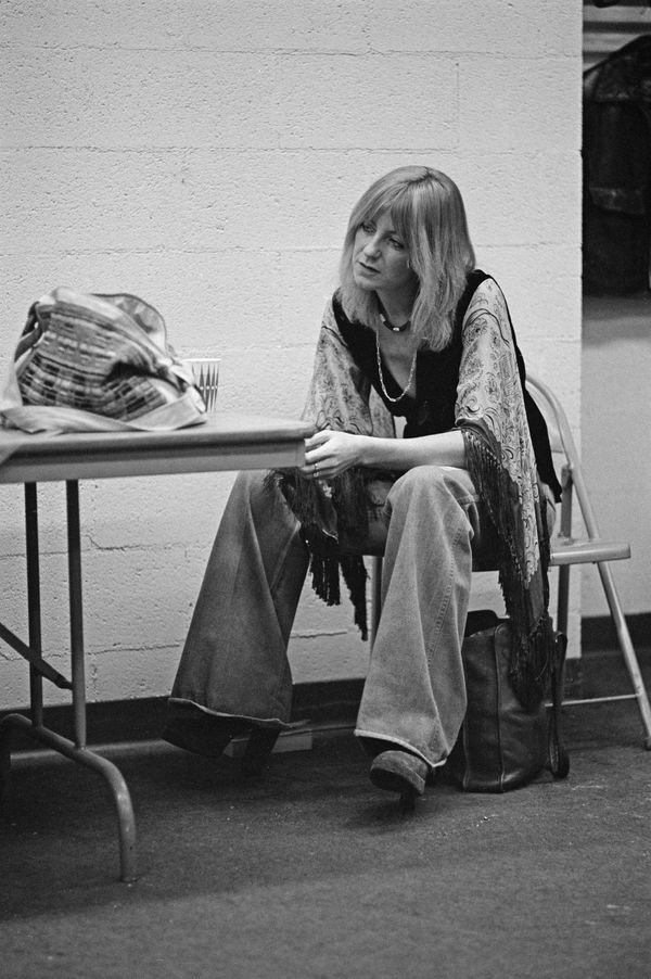 The Fleetwood Mac band member at a recording studio in New Haven, Connecticut, in 1975.