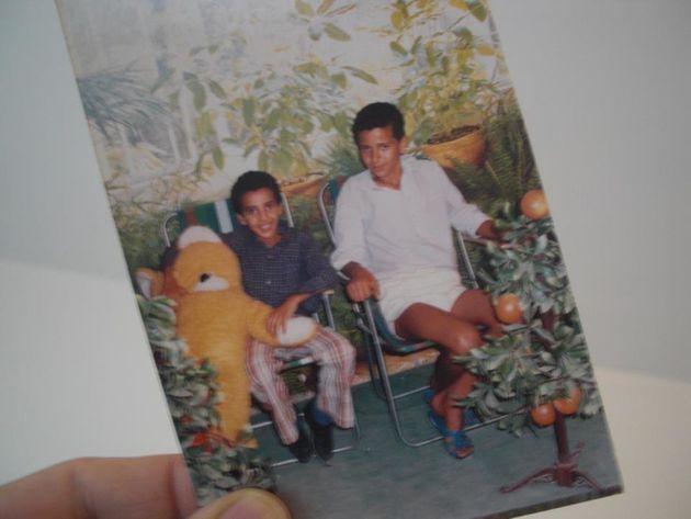 Abdellah Taïa enfant (à droite) avec son petit
