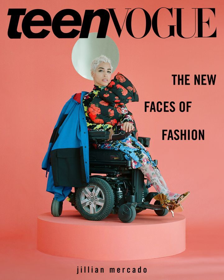 Model Jillian Mercado on one of three covers for Teen Vogue's September issue.