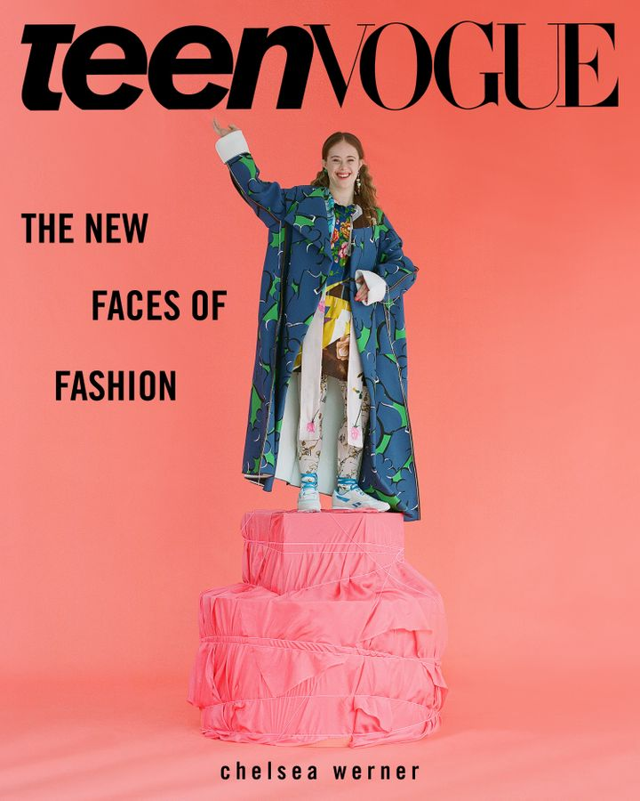 Model Chelsea Werner's cover shot for one of Teen Vogue's three September issues.