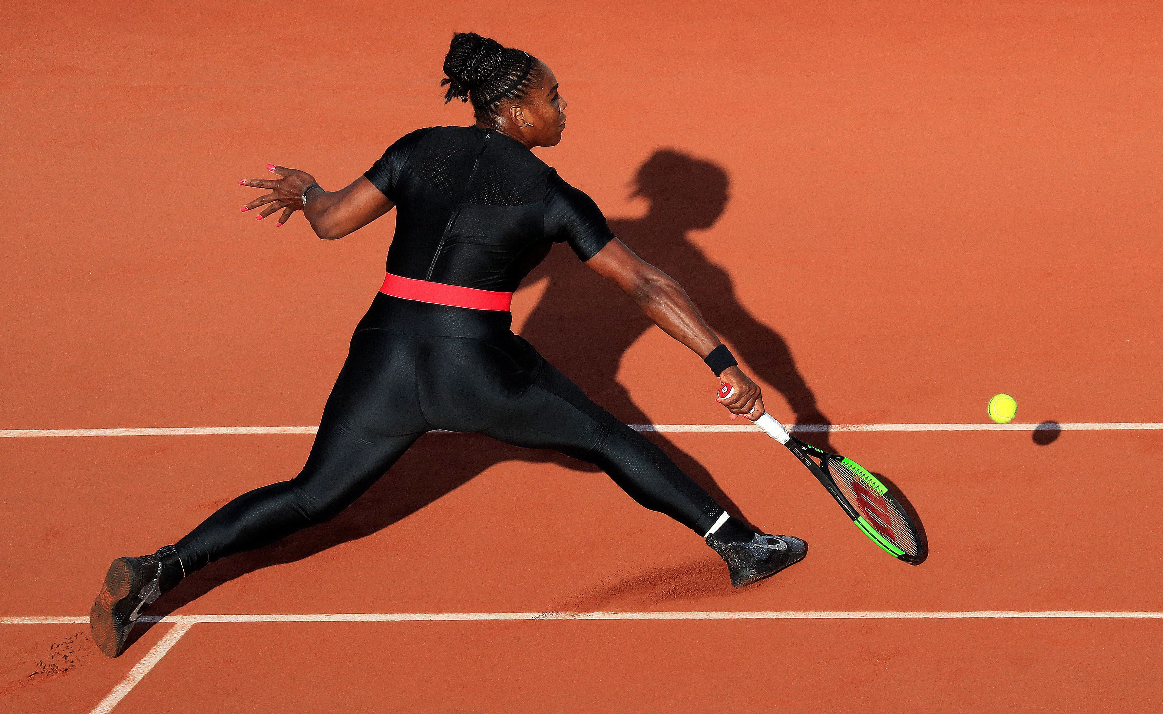 Serena Williams at this year's French Open.