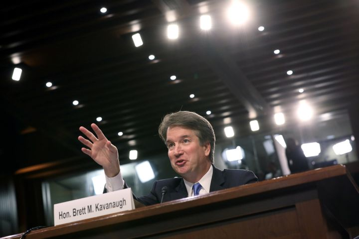 Supreme Court nominee Brett Kavanaugh testifies during his Senate Judiciary Committee confirmation hearing Wednesday.