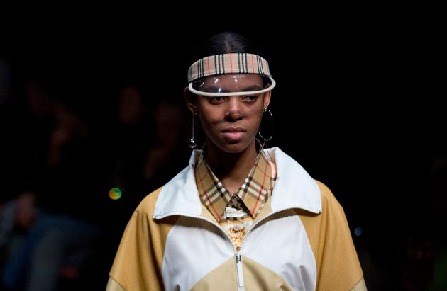 A model on the catwalk during the Burberry Autumn/Winter 2018 London Fashion Week show in