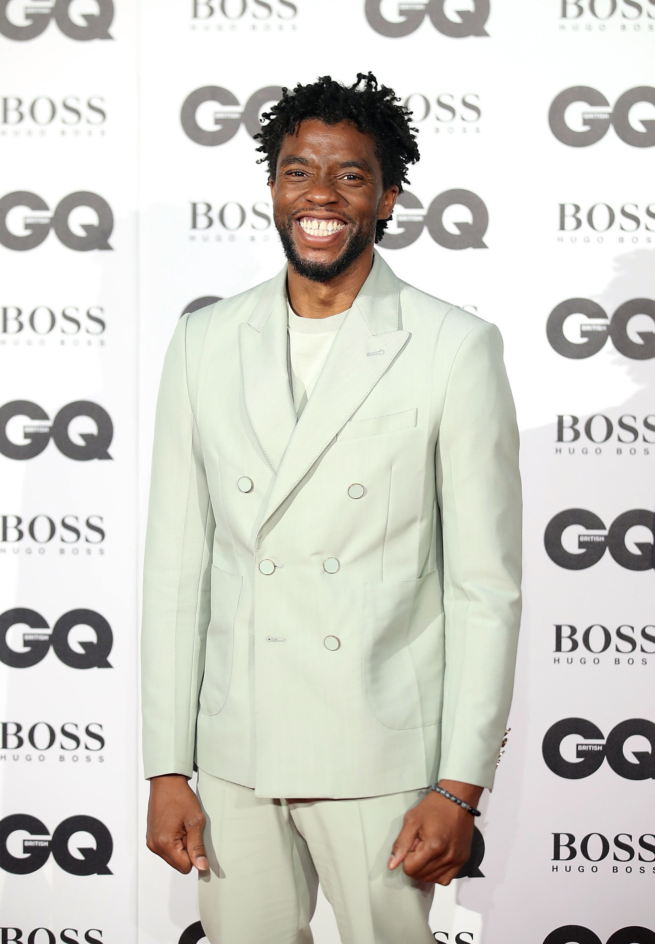 Looks We Love: Chadwick Boseman's Pastel Suit At The GQ Men Of The Year
