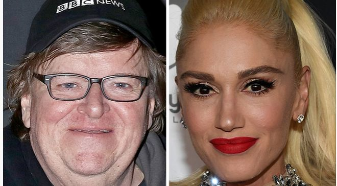 Michael Moore claims that Donald Trump launched his campaign because he was jealous of Gwen Stefani.