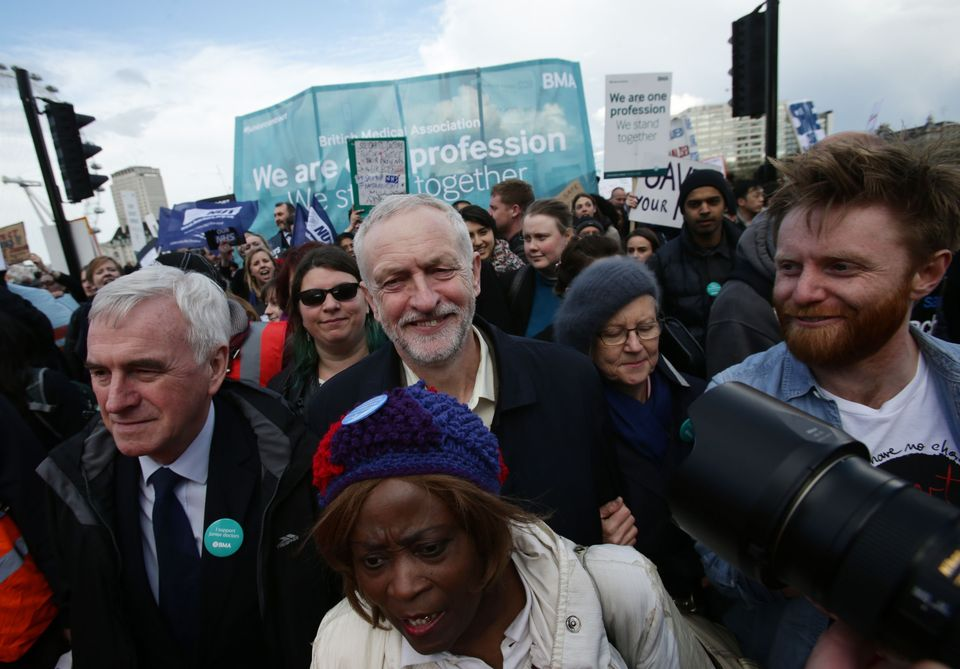 John McDonnell and Jeremy Corbyn join