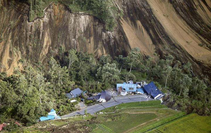 Dozens of people are missing after landslides buried entire towns, including Atsuma in Japan's northern island of Hokkaido.