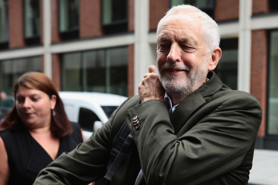 Jeremy Corbyn arrives at the