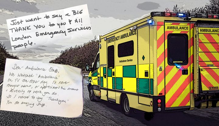 Notes received by London Ambulance service.