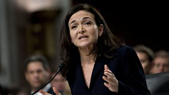 Sheryl Sandberg, chief operating officer of Facebook Inc., speaks during a Senate Intelligence Committee hearing in Washington, D.C., U.S., on Wednesday, Sept. 5, 2018. Lawmakers from both sides of the aisle have increased pressure on technology companies on Russian interference in the 2016 presidential campaign and other election meddling as well as issues including alleged anti-conservative bias and antitrust questions. Photographer: Andrew Harrer/Bloomberg via Getty Images